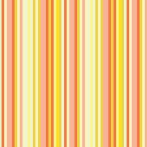 17-12S Citrus Fruit Candy Stripe || Pin stripe pinstripe Coral Peach Orange Lemon Yellow Summer _ Miss Chiff Designs