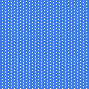 17-12N Tiny White Polka Dot on Royal Blue || Summer Bicycle Bike _ Miss Chiff Designs