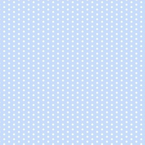 17-12M Tiny Polka Dot on Light Sky Blue Periwinkle || Summer bike bicycle spot