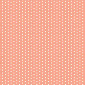 17-12L Coral Tiny Polka Dot || Peach orange summer fruit _ Miss Chiff Designs