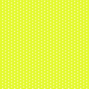 17-12K Lime Green Yellow Tiny Polka Dot || Summer spots chartreuse _ Miss Chiff Designs