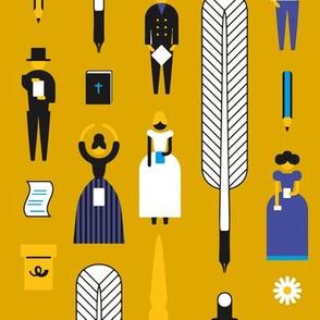 Swedish Folk Pattern Yellow