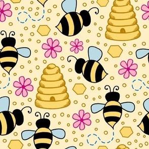 Happy Bees - yellow