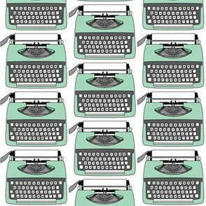 vintage green typewriter