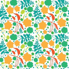green_blue_orange_floral_repeat_pattern