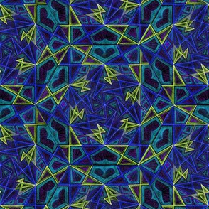 Whirligig Pattern Fabric Blue