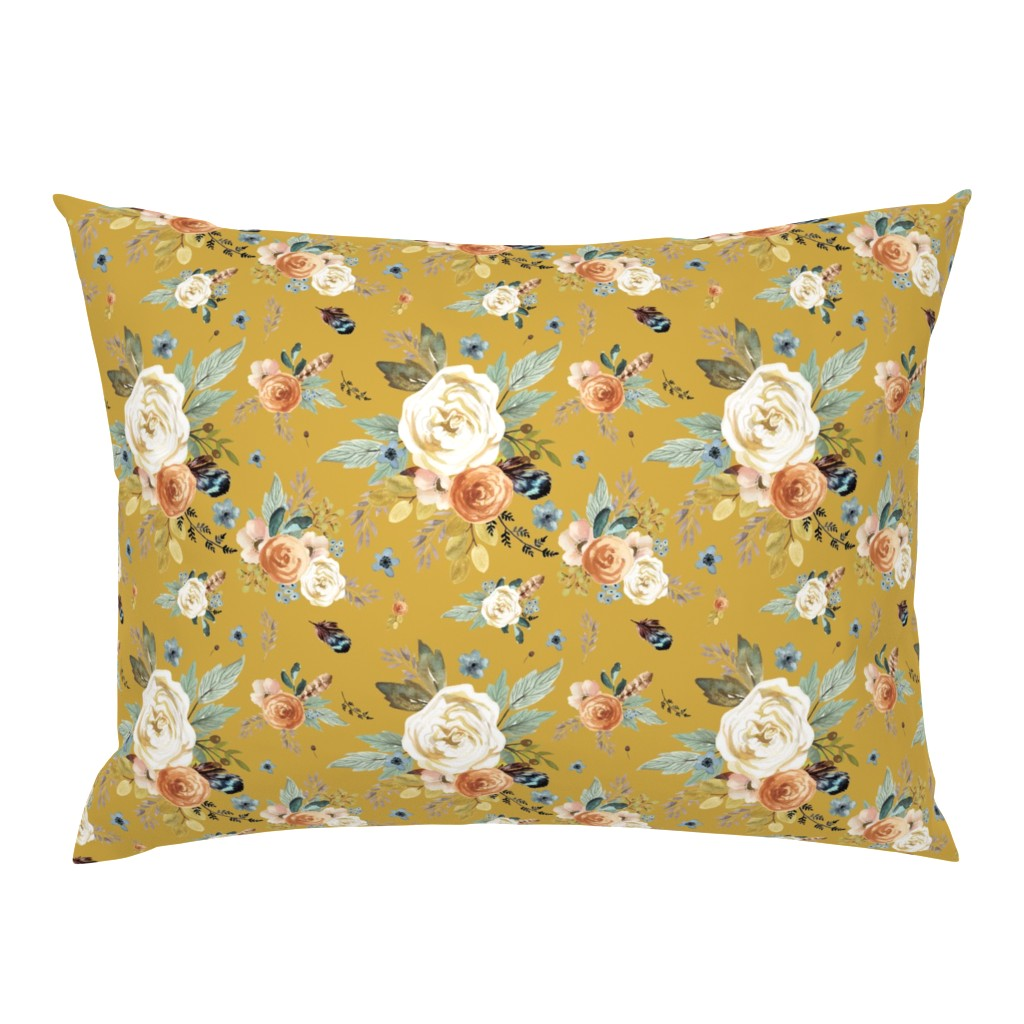 "Campine Pillow Sham featuring 8"" Western Autumn / Mustard Color 2017 by shopcabin"
