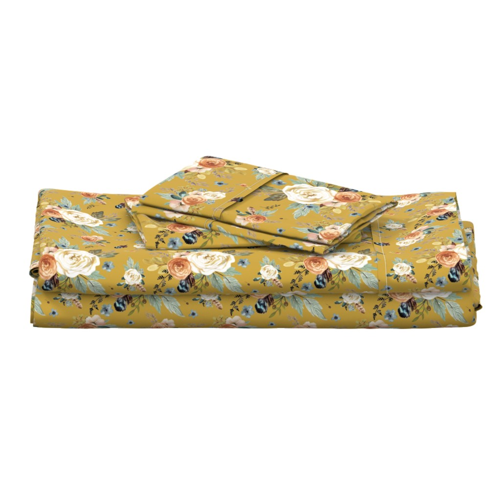 """Langshan Full Bed Set featuring 8"""" Western Autumn / Mustard Color 2017 by shopcabin"""