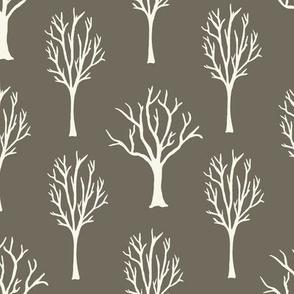 Winter Trees - Ivory, Clay