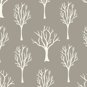 Winter Trees - Ivory, Mushroom