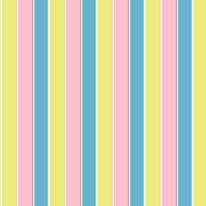 pastel stripe //  yellow / blue/ pink stripes