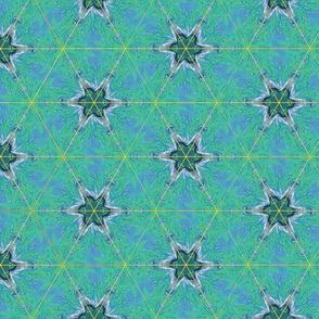 Green Stars Fluorescent Pastel Green Upholstery Fabric