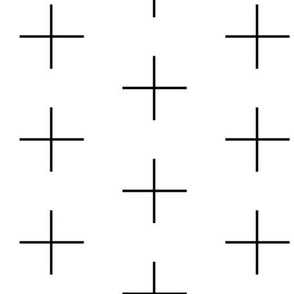 Thin line swiss cross / black on white