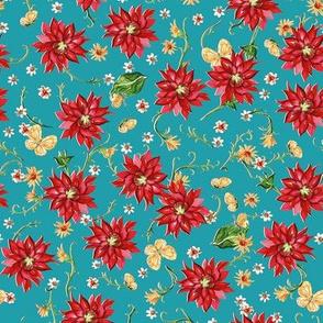 red_dahlia_daisy_butterfly