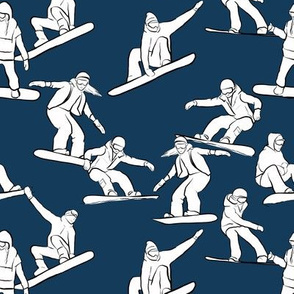 Snowboarders on Navy