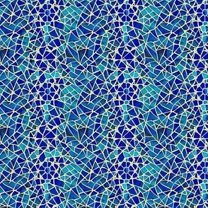 Flower Star Mosaic Pattern Blue