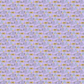 Simple Dog Agility equipment - tiny border purple