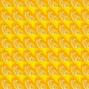 Slanted Shells Yellow Upholstery Fabric