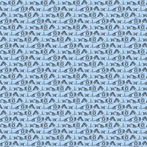 Simple Dog Agility equipment - tiny sillhouette border blue