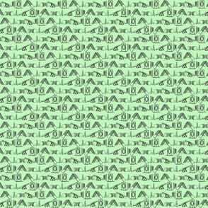 Simple Dog Agility equipment - tiny sillhouette border green