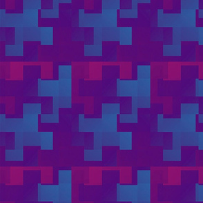 Puzzle Pieces Blue and Purple Upholstery Fabric
