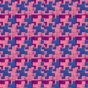Puzzle Pieces Pink Blue Purple Upholstery Fabric
