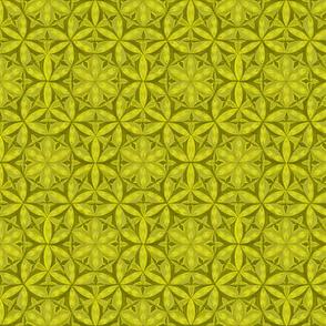 Flower of Life Hand Drawin Lemon Color