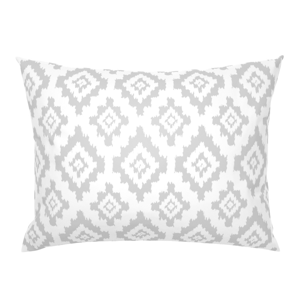 Campine Pillow Sham featuring Boho Ikat in White by thewellingtonboot