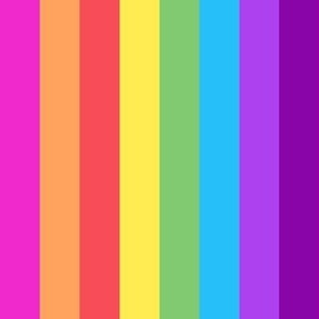 Pride LGBT rainbow stripe bright