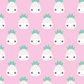 Kawaii love hot pink pineapple  summer cuteness japan lovers design girls