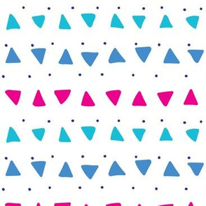 Magenta Triangles and Dots