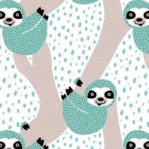 Blue Sloths just hang in these pura vida jungle animals boys