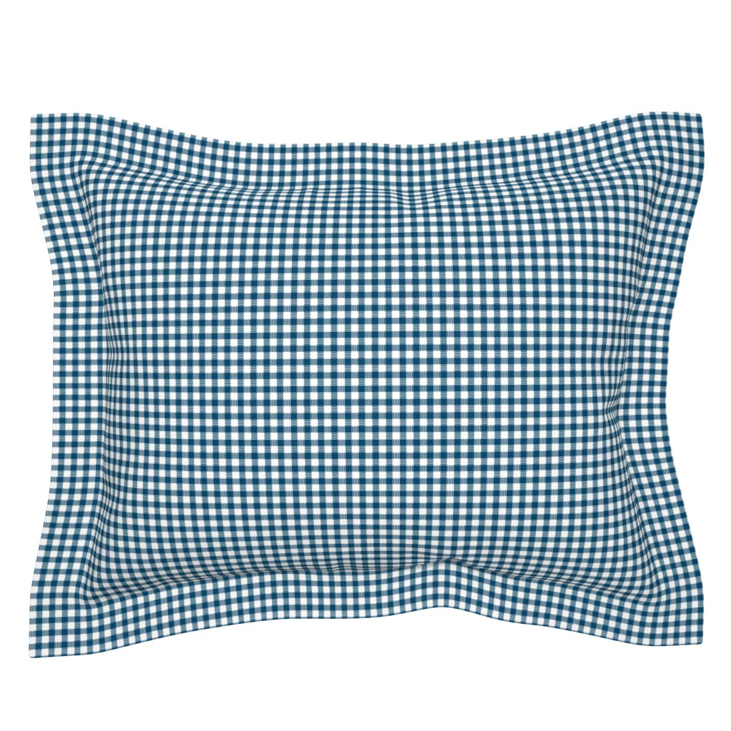 Sebright Pillow Sham featuring Navy Plaid by cindylindgren
