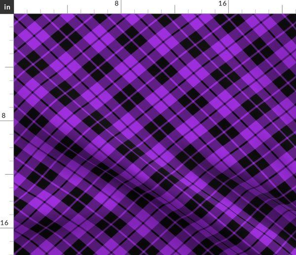 Purple And Black Diagonal Tartan Spoonflower