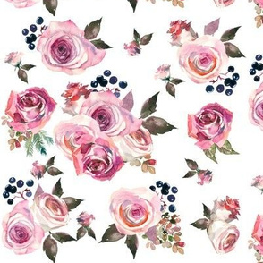 dusty rose floral