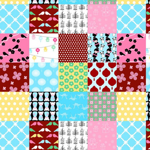 Chinoiserie Baby Cheater Quilt