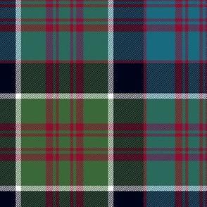 "MacDonald of Clan Ranald tartan, 10"" muted"