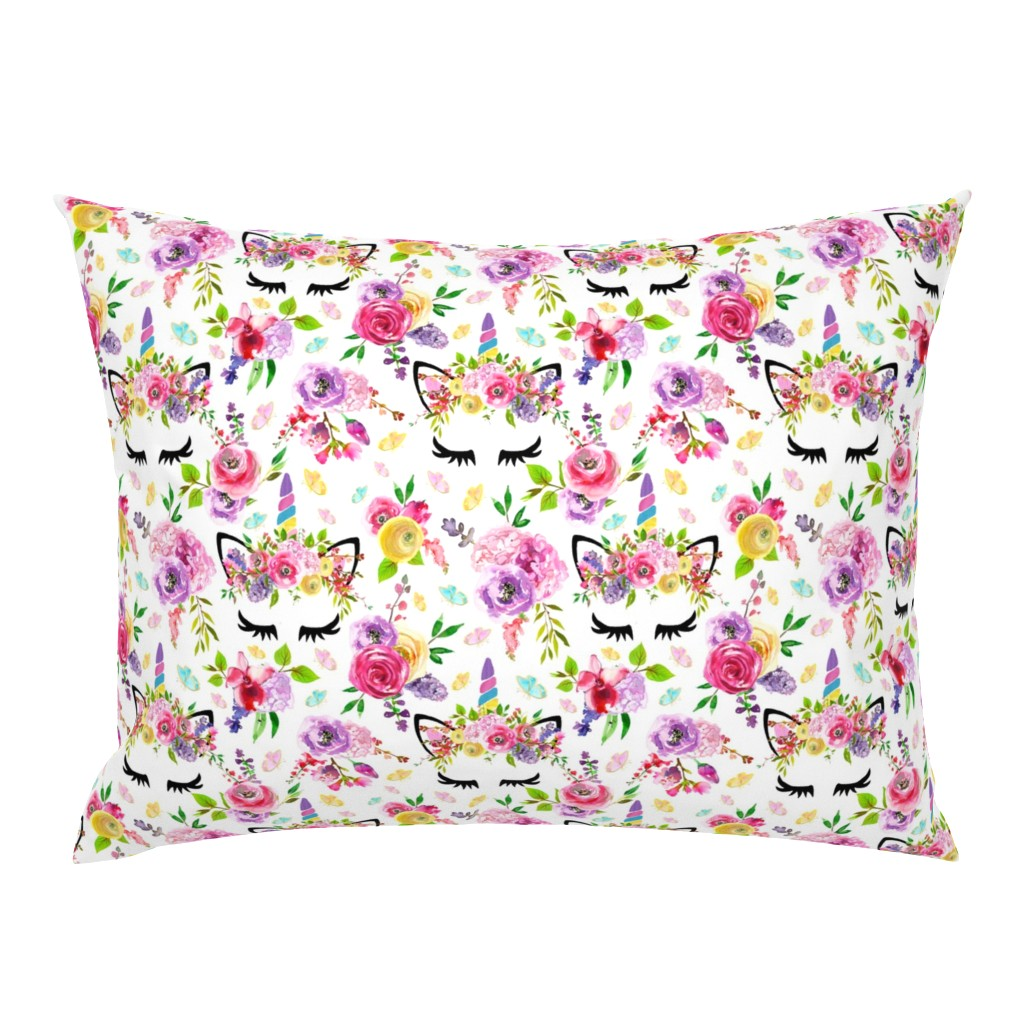 """Campine Pillow Sham featuring 3.5"""" Butterfly Unicorns  by lil'faye"""