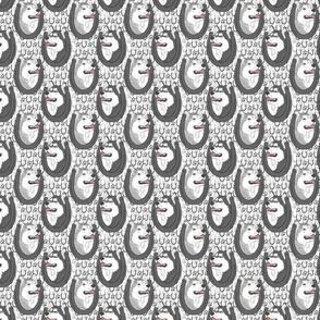 Siberian Husky horseshoe portraits B - small