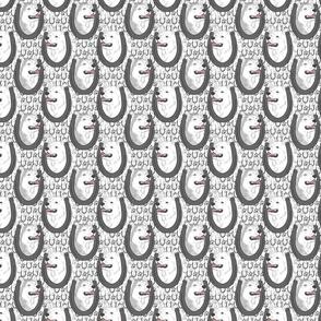 Siberian Husky horseshoe portraits C - small