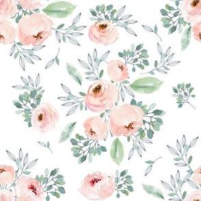 """8"""" Gables Rose / White"""