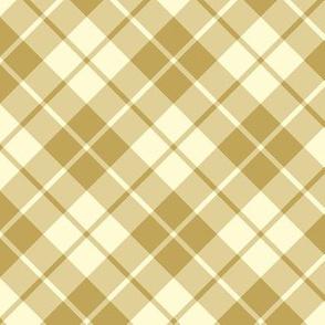 cream and tan diagonal tartan
