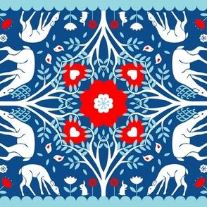 Swedish Folk Art Cut & Sew Napkins