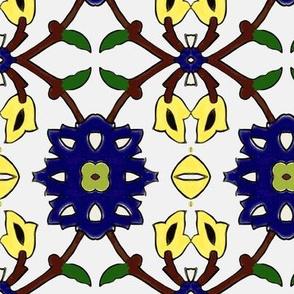 flowertile white