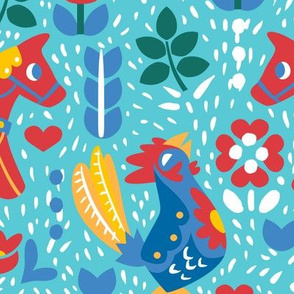 Red Horses and Blue Roosters