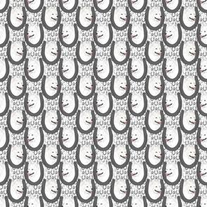 Small American Eskimo Dog horseshoe portraits
