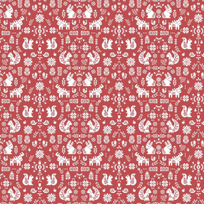 folksy creatures -red