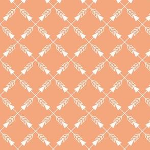 Crossed Arrows in Orange