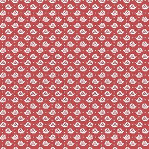 folksy hedgehog - red