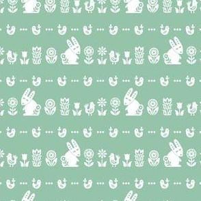 folksy meadow - green